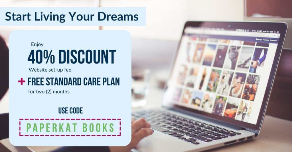 How to start living your dreams discount coupon for paperkat books for website design and development